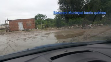 Basurero Hernandaria y Rio Parana