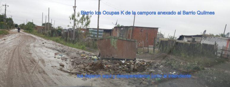 Barrio de Okupas K , Barrio Quilmes